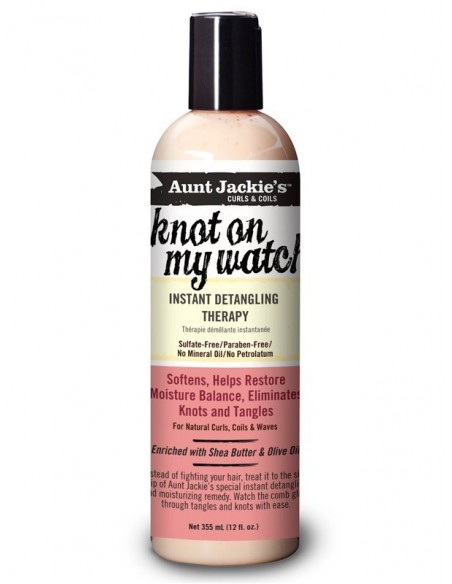 Leave-in Knot On My Watch! Instant Detangling Therapy Aunt Jackie's Curls & Coils 355ml
