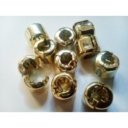 18 unidades Hair Beads Presión dorados
