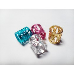 4 Metal Beads Colorines