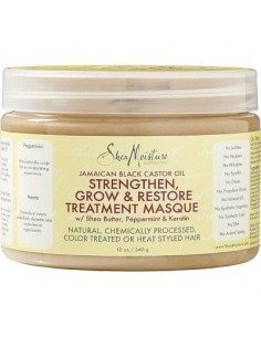 Mascarilla Strengthen, Grow & Restore Treatment Masque Jamaican Black Castor Shea Moisture 340g