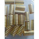16 Metal Beads Dorados Largos
