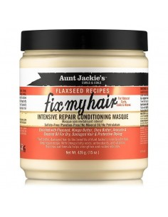 Fix My Hair Intensive Repair Conditioning Masque Aunt Jackie's Curls & Coils Flaxseed Recipes  426g  (15 oz.)