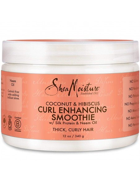 Curl Enhancing Smoothie Coconut & Hibiscus SheaMoisture's 340g