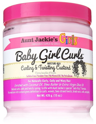 Baby Girl Curls Curling & Twisting Custard Aunt Jackie's Girls 426g