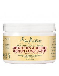 Acondicionador Sin Aclarado Strengthen & Restore Leave-In Conditioner Jamaican Black Castor Oil Shea Moisture 312ml