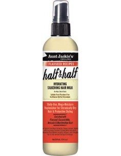 Half & Half Hydrating Silkening Hair Milk Aunt Jackie's Curls & Coils Flaxseed Recipes 355ml (12 oz.)