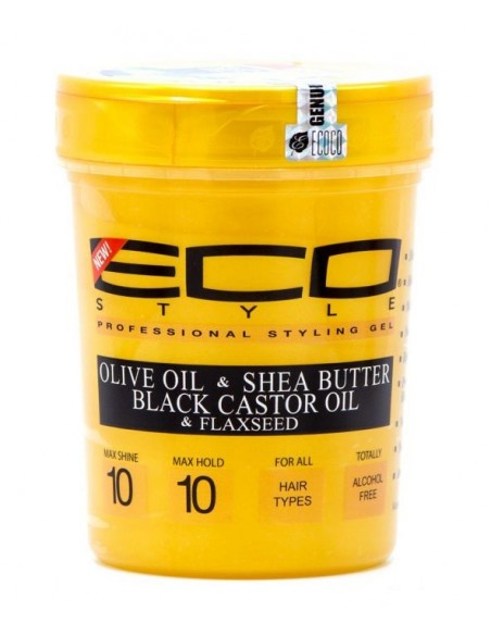 Gel Olive Oil and Shea Butter and Black Castor and Flaxseed Eco Styler 32oz