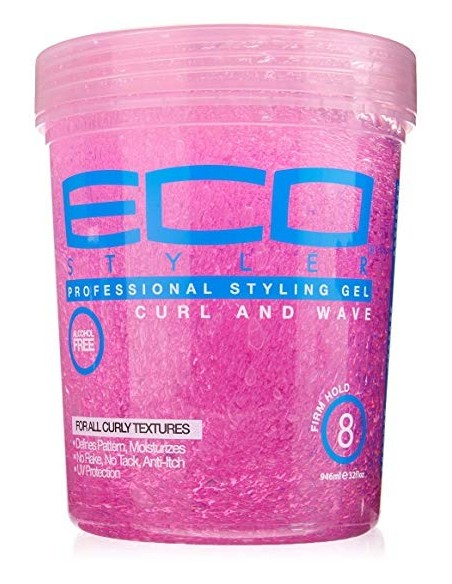 Gel Curl And Wave Pink Professional Styling Eco Styler 908ml