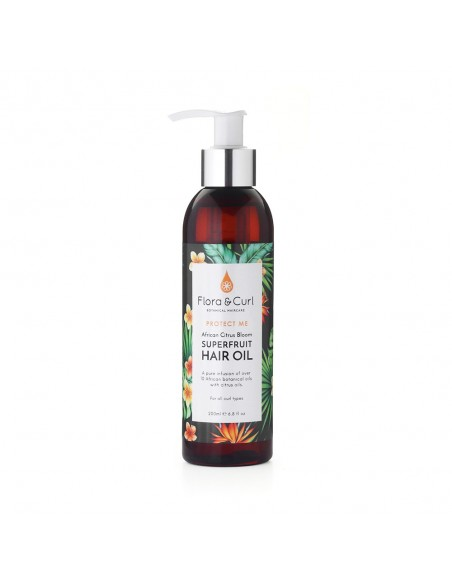African Citrus Superfruit Hair Oil Flora And Curl 200ml