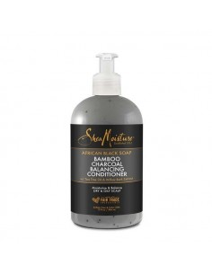 Acondicionador African Black Soap Bamboo Charcoal Balancing Conditioner Shea Moisture 384ml
