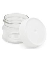 Tarros De Tapa Blanca Transparentes 30ml