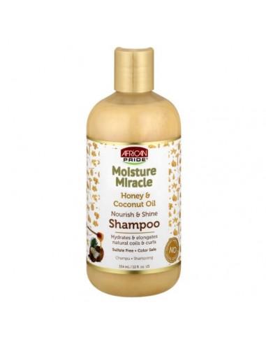 Shampoo Moisture Miracle Honey & Coconut Oil Shampoo African Pride 354ml