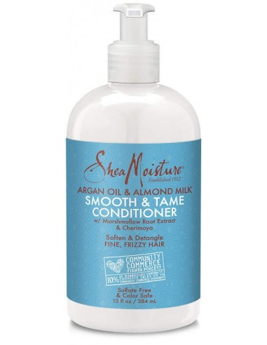 Acondicionador Argan Oil & Almond Milk Smooth & Tame Conditioner Shea Moisture 384ml