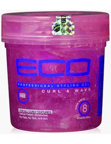 Gel Curl And Wave Pink Professional Styling Eco Styler 16 oz 473 ml