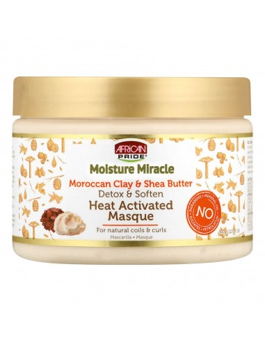 Mascarilla Moisture Miracle Moroccan Clay & Shea Butter African Pride Heat Activated Masque 340g