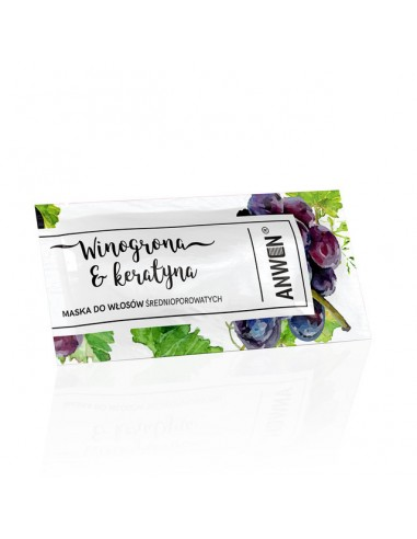 MINI Sachet Mascarilla Anwen Grapes and Keratin 10ml